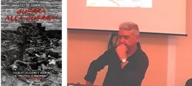 L'ECOLIBRI  Report sull'incontro con Ugo  De Grandis  autore del libro 'Guerra alla guerra'