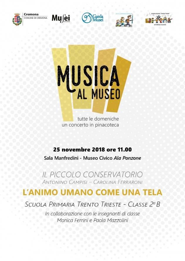 Il Piccolo Conservatorio  della Trento e Trieste per la rassegna Musica al Museo di Cremona