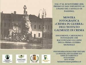 Pandino: fino al 28/11 visita alla mostra 'Crema in guerra'