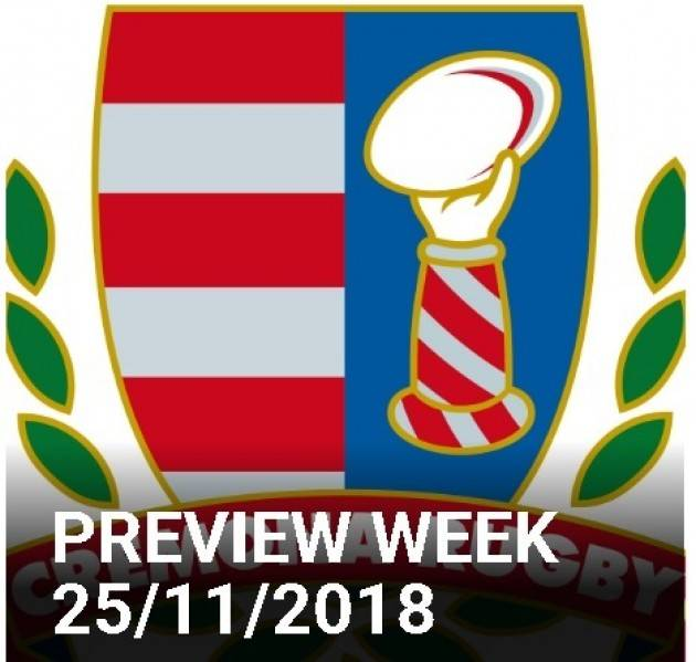 Cremona Rugby Preview Week 25/11/2018