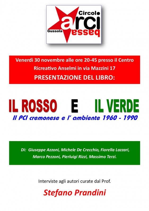 L'ECOLIBRI  A Gussola presentazione 'Il rosso e il verde: il PCI cremonese e l'ambiente 1960 – 1990'