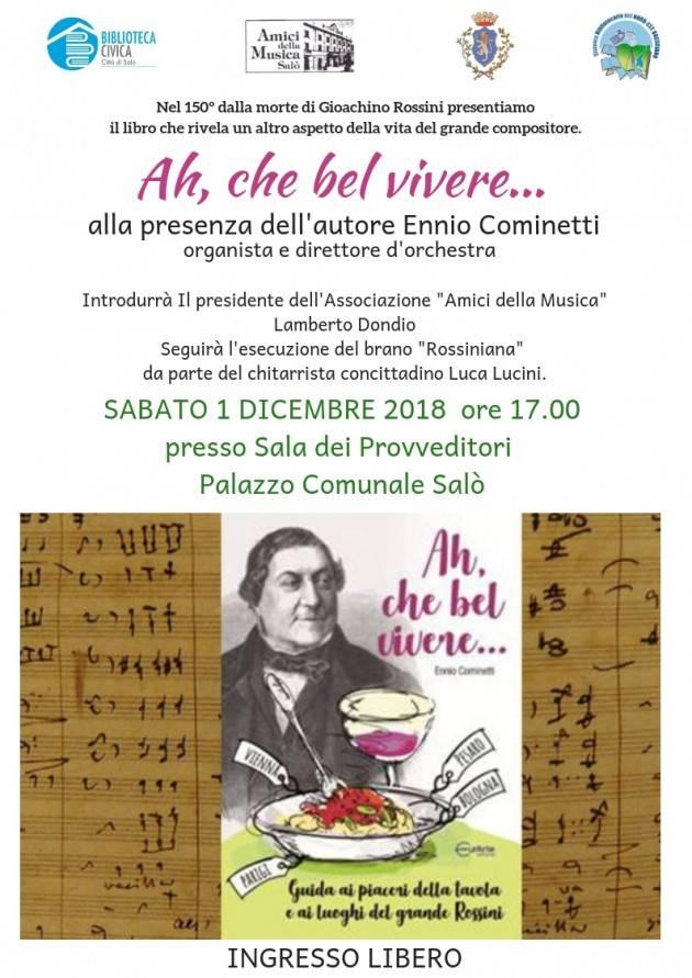 Presentazione libro di Ennio Cominetti per i 150 anni della morte di Rossini