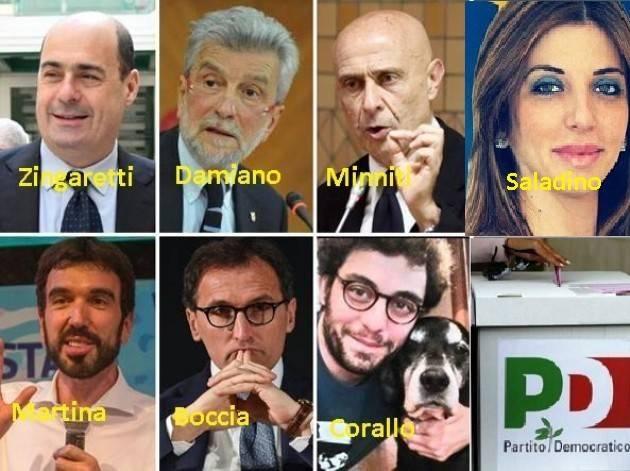 Primarie PD del 2019 Sempre in 7 Richetti si ritira e sostiene Martina. Entra in corsa una donna Maria Saladino