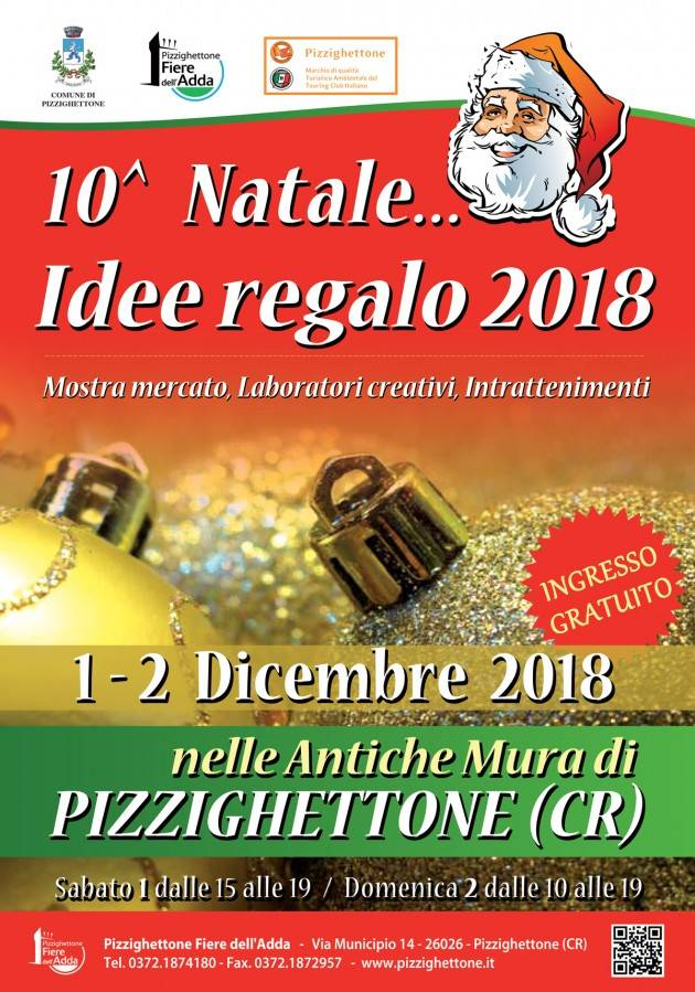 Pizzighettone Nelle Casematte ritorna 1 e 2 dicembre  la MOSTRA MERCATO 'NATALE...IDEE REGALO