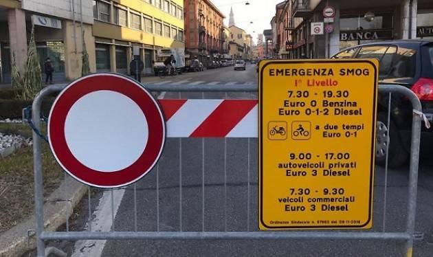 Cremona: Smog, da venerdì 7/12 scattano le misure temporanee di primo livello