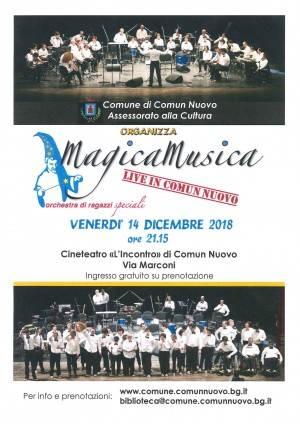 L'Orchestra MagicaMusica sbarca a Comun Nuovo (BG)  venerdì 14 dicembre