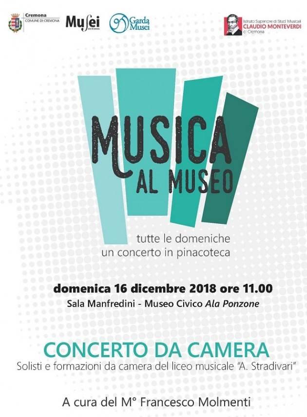 Cremona: concerto da camera al Museo Civico 'Ala Ponzone'