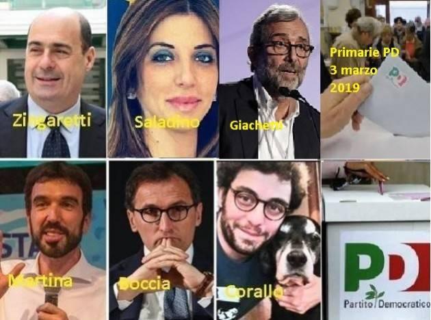 Primarie PD del 3 marzo 2019. Sono in sei : Giachetti, Martina, Boccia, Zingaretti, Corallo e Saladino