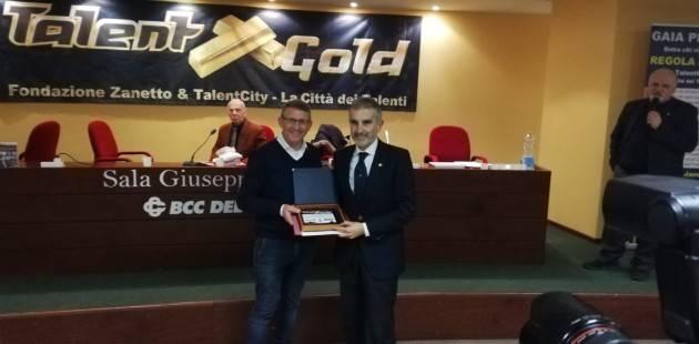 L'HRC Fascia d'oro di Montichiari ritira il premio TalentGold 2018