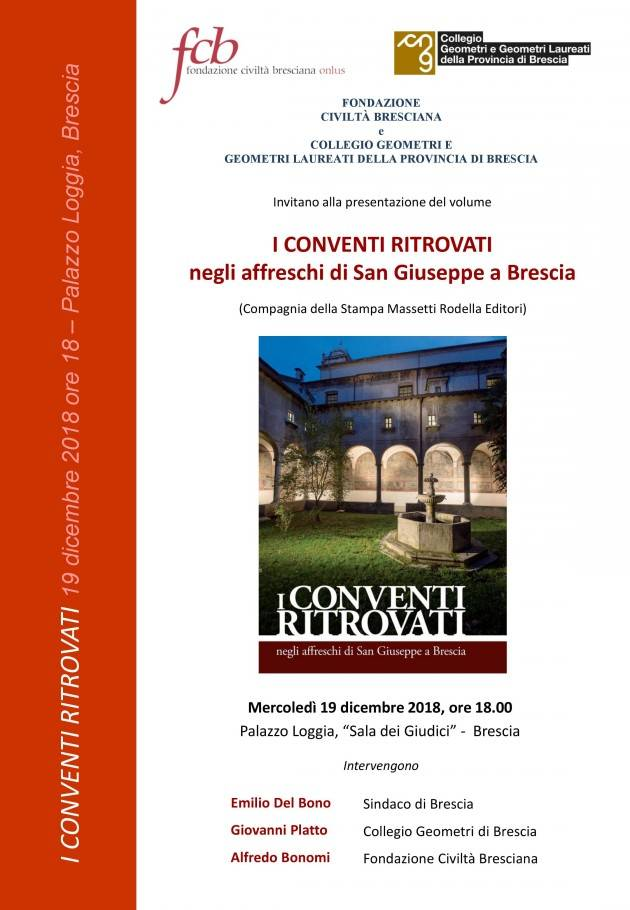 Presentazione libro sugli affreschi della chiesa di San Giuseppe a Brescia