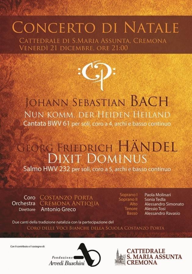 Cremona Il Costanzo Porta presenta l'ultima novità discografica per Tactus e Concerto di Natale  Cattedrale 2018