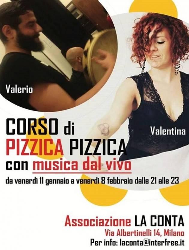 Milano Ass. La Conta invita a partecipare al Corso di DI PIZZICA PIZZICA
