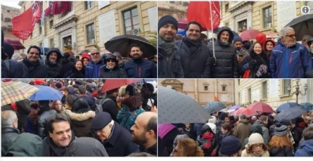 Cgil Diritto d'asilo  Prima viene la Costituzione: presidio a Palermo