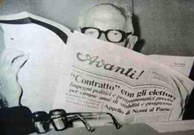 L'ECOCOMMIATI e RICORDI Il 1° gennaio 1980 fa scompariva, alla (per allora) veneranda età di 89 anni, Pietro Nenni