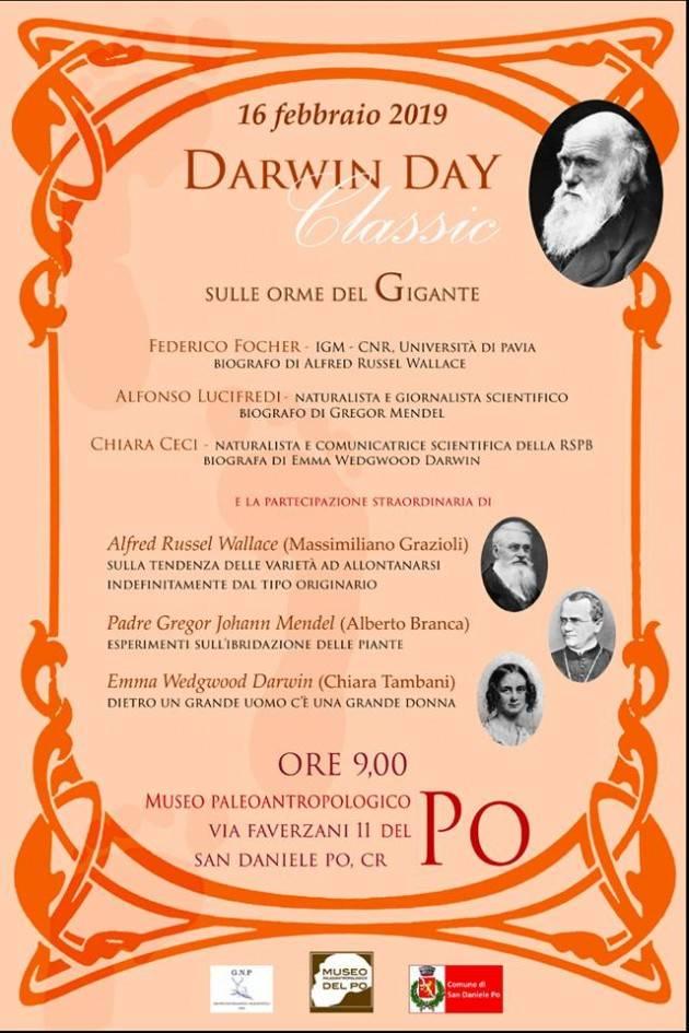 Il  'Darwin day' a San Daniele Po sabato 16 febbraio
