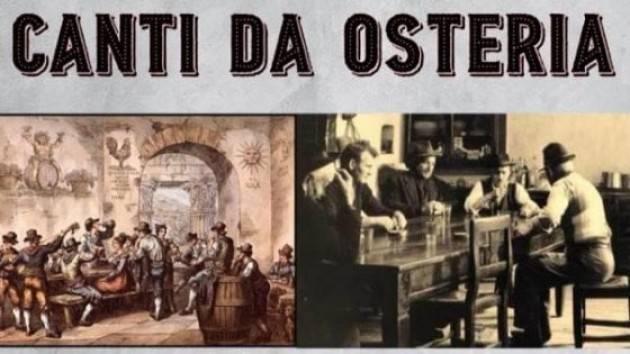 Milano Ass La Conta informa che il corso dei canti dell'Osteria parte il 15 gennaio