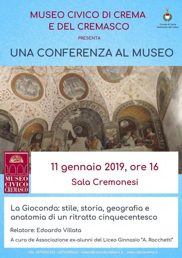 Crema Appuntamento di venerdì 11 gennaio 2019 alle ore 16:00 de 'Una conferenza al Museo'.