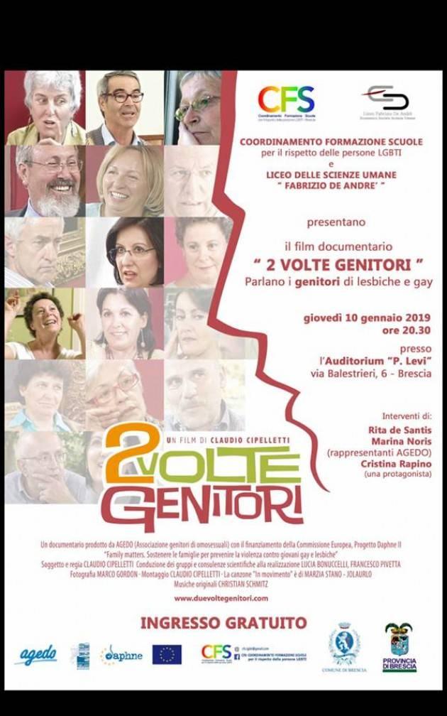 Presentazione del documentario 2 Volte genitori all'Auditorium Levi di Brescia