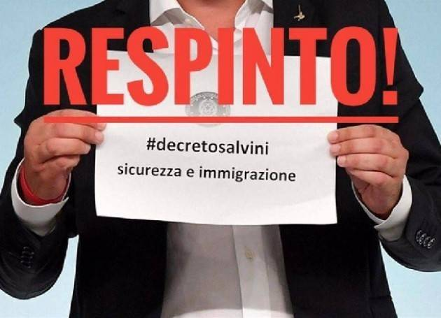Cgil Decreto Salvini, tra insicurezza e disumanità