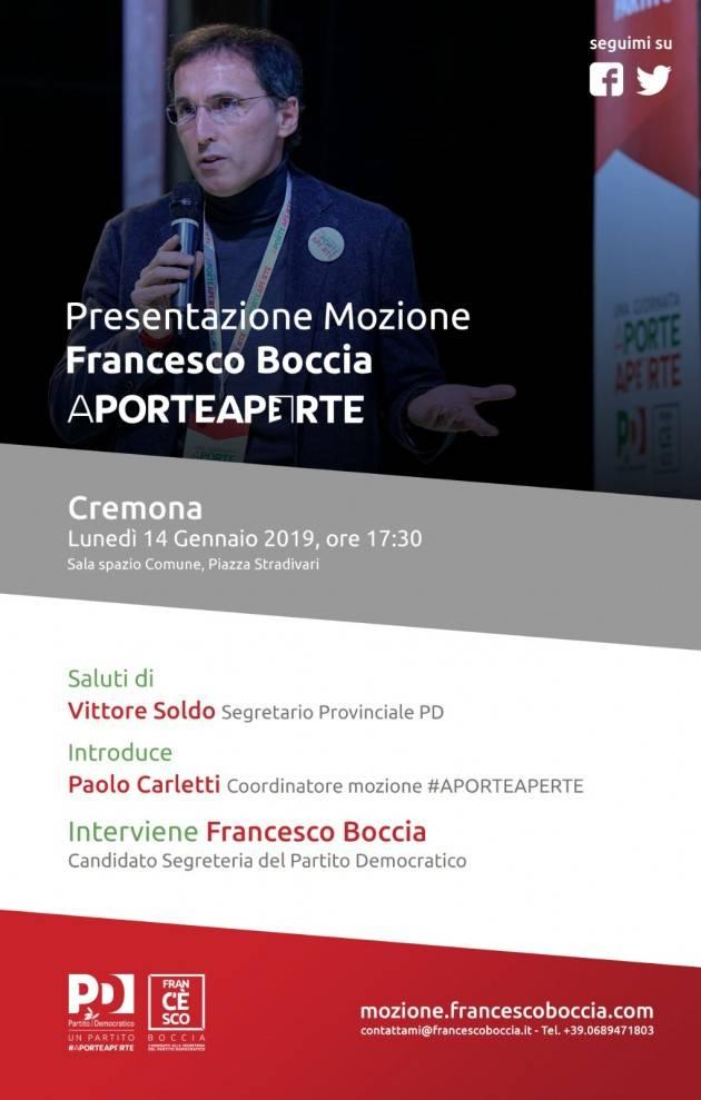 Congresso Nazionale PD : Francesco Boccia a Cremona  il 15 gennaio