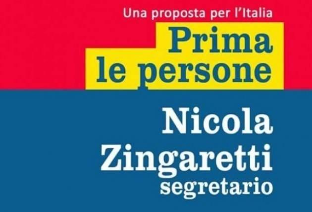 Congresso PD Costituito il comitato 'Piazza Grande Cremasco' a sostegno di Nicola Zingaretti