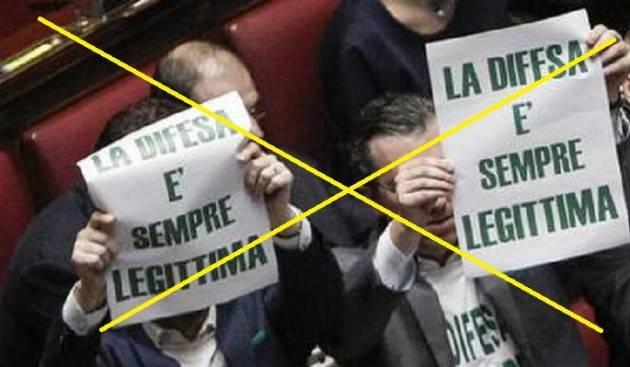 ADUC Governo. Lega e M5S sulla legittima difesa che non difende