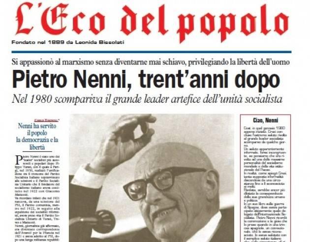 L'ECOSTORIA nel 39° anniversario della scomparsa Nenni… post scriptum