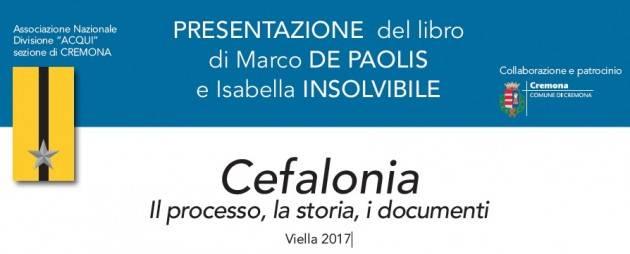 L'ECOLIBRI  Segnala 'Cefalonia Il processo, la storia, i documenti  Viella 2017' presentazione il 25 gennaio