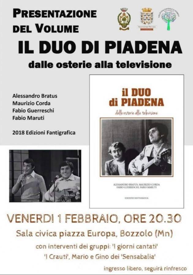 Presentazione del libro 'Il duo di Piadena' il 1° febbraio a Bozzolo