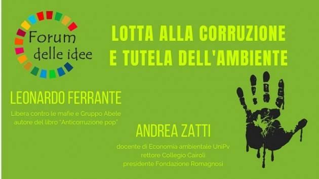Cremona: Incontro 'Lotta alla corruzione e tutela dell'ambiente' venerdì 25 gennaio