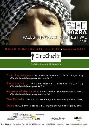 Cremona Cine Chaplin 'Sguardi' sulla Palestina: Nazra Palestine Short Film Festival 2018