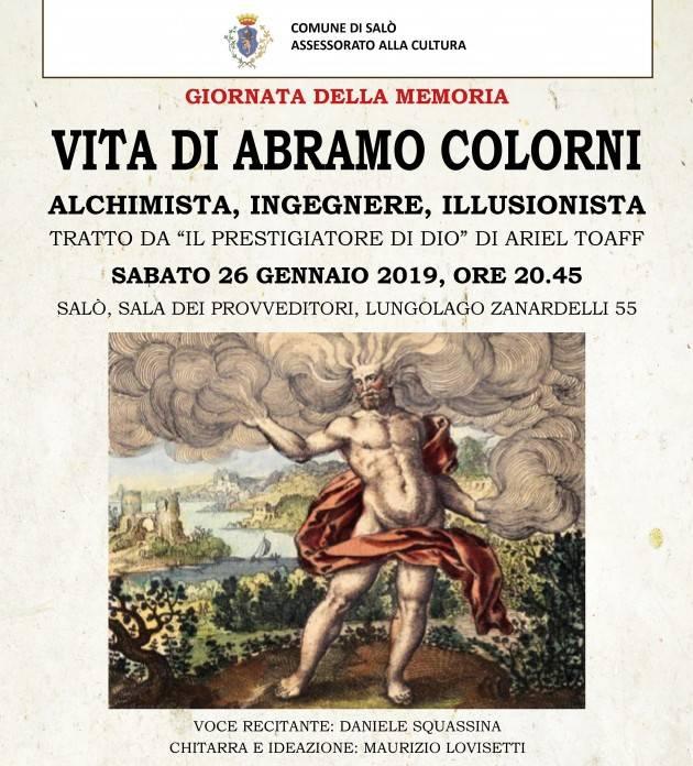 26 gennaio, per la Giornata della Memoria evento sulla Vita di Colorni a Salò.