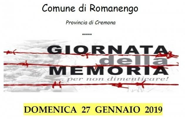 Celebrazione Giornata della Memoria a Romanengo il 27 gennaio
