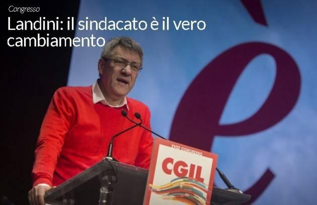 Buon lavoro al compagno  Maurizio Landini segretario generale Cgil