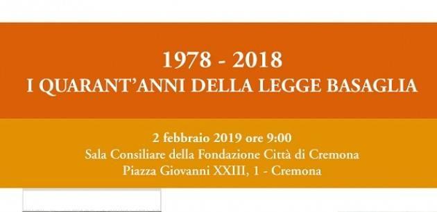 1978 - 2018: I quarant'anni della legge Basaglia alla Fondazione Città di Cremona