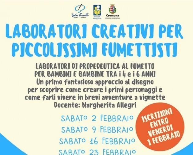Cremona: 2a edizione del laboratorio di fumetti per piccolissimi fumettisti!