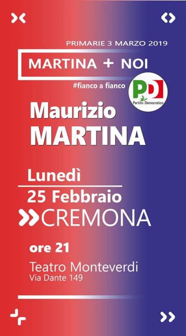 Primarie PD del 3 marzo 2019 Maurizio Martina a Cremona il 25 febbraio