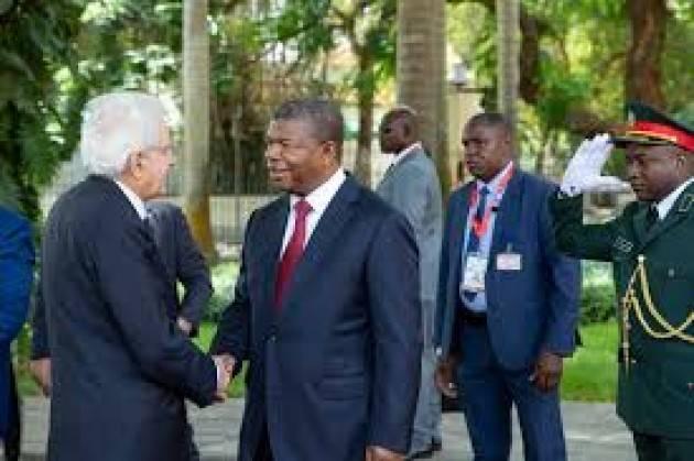 AISE AFRICA MATTARELLA a LUANDA : L'AFRICA È IL CONTINENTE