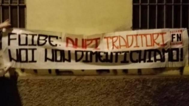 Forza Nuova cuor di leone: striscione davanti alla sede di Anpi Cremona