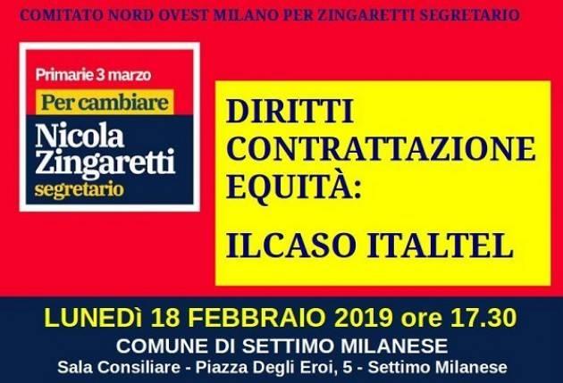 'Diritti, contrattazione, equità: il caso Italtel', con la partecipazione del senatore Franco Mirabelli