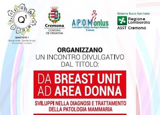 Cremona: 'Da Breast Unit ad Area Donna – Sviluppi nella diagnosi e trattamento della patologia mammaria'