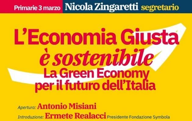 Zingaretti a Milano per discutere di economia e sostenibilità venerdì 15 febbraio