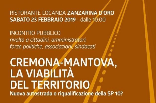 'Cremona-Mantova, la Viabilità del Territorio' sabato 23 febbraio a Calvatone