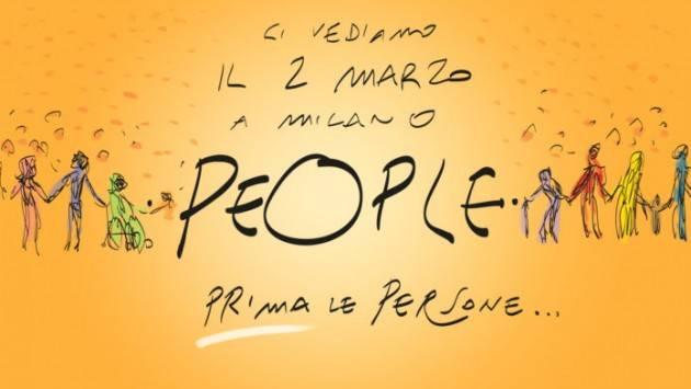 Milano Sabato 2 marzo  manifestazione 'PEOPLE PRIMA LE PERSONE'
