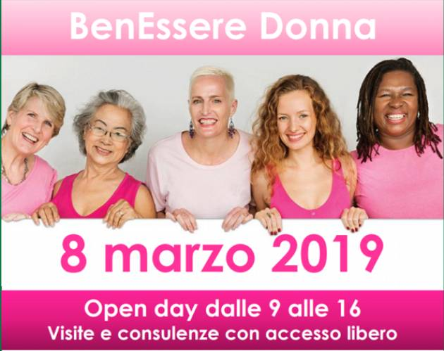 ASST Cremona: Open day 8 marzo 2019 BenEssere Donna