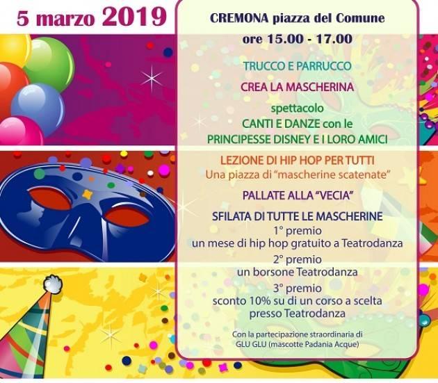 Cremona: il 5 marzo va in scena 'Il nostro grosso grasso martedì grasso'