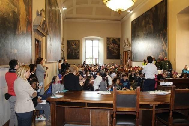 Il sindaco Galimberti incontra gli alunni delle scuole primarie nell'ambito del progetto UrbanWINS