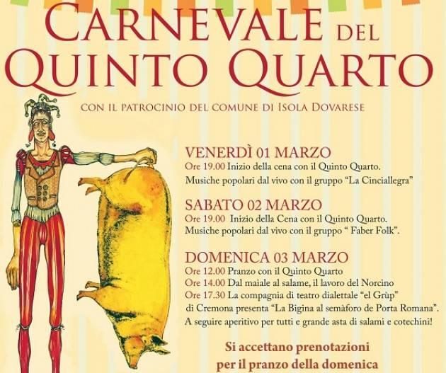 Carnevale del Quinto Quarto di Isola Dovarese 1-2-3 marzo