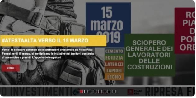 Cgil-Cisl-Uil Il 15 marzo a Roma Costruzioni, uno sciopero per rilanciare il settore