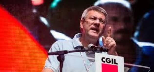 Italia  Landini (Cgil) , governo non riconosce le parti sociali